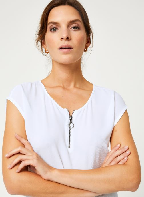 Vêtements IKKS Women Top Zip BP11005 Blanc vue face